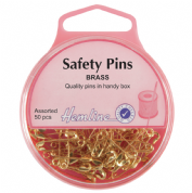 Hemline Safety Pins - Assorted Pack - 19mm & 23mm - 50 pack
